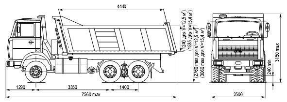 Схема МАЗ 5516А5-380-050